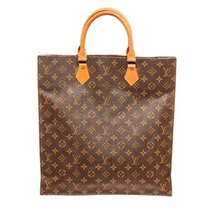 Louis Vuitton Canvas Leather Sac Plat Tote Bag